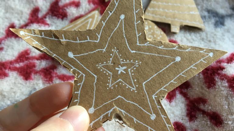 cardboard star
