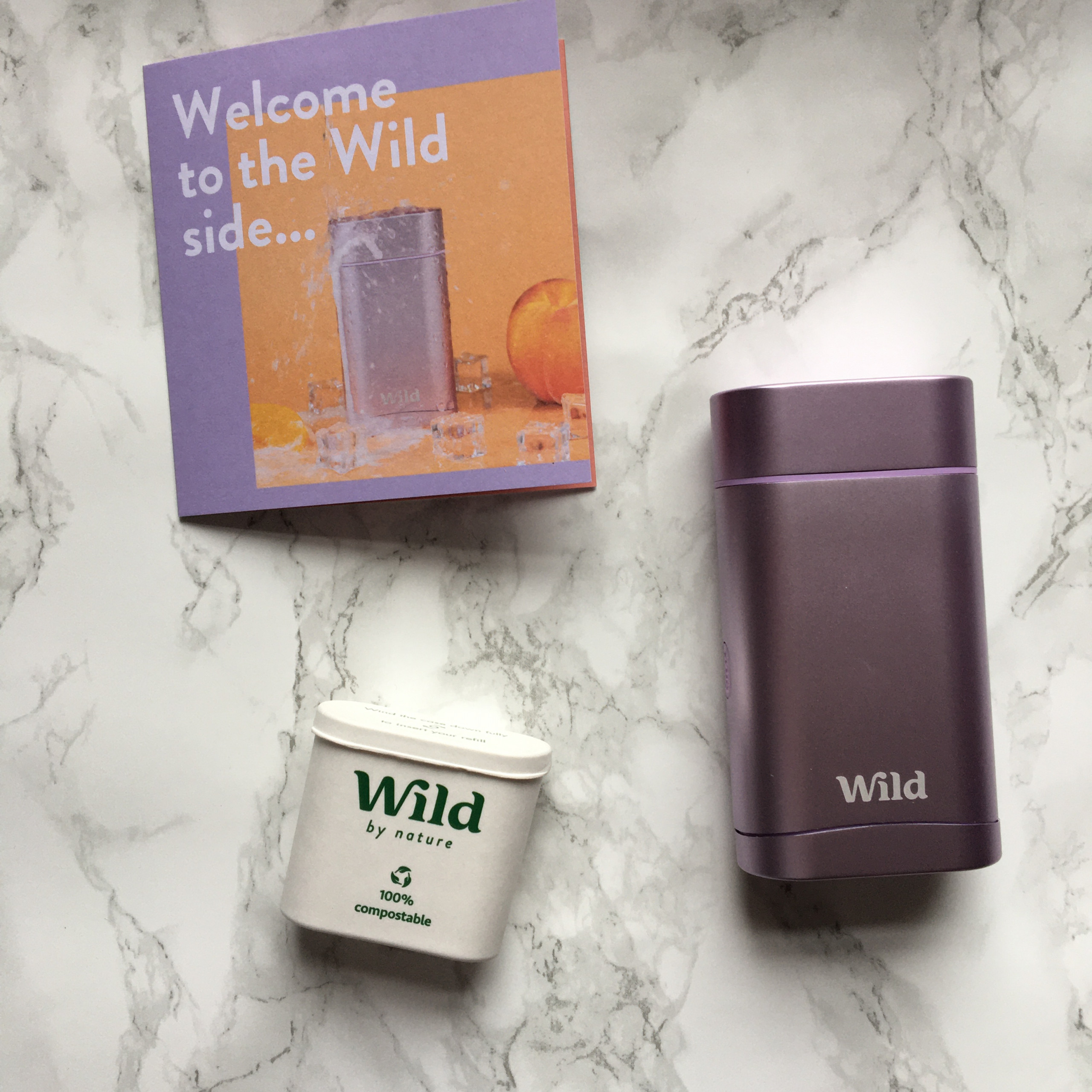 wild deodorant flatlay